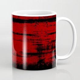 Black Grunge on Red Coffee Mug