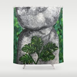 Latte Stone Shower Curtain