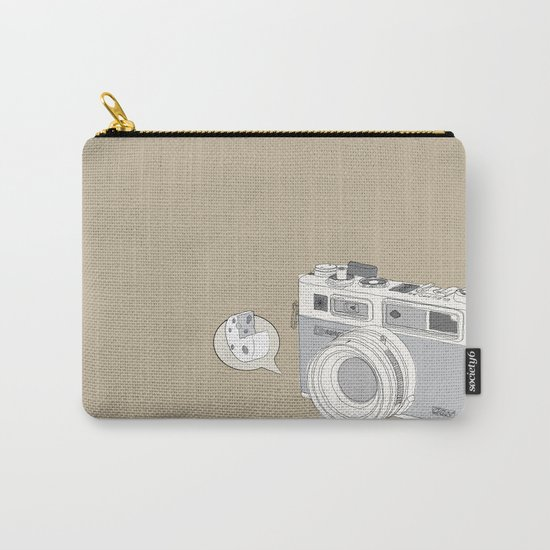 """Yashica Camera - """"Say Cheese"""" - soft-brown Carry-All Pouch"""