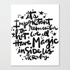 Magic Inside Canvas Print