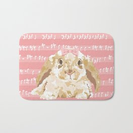 Bunny Composition (beige/pink) Bath Mat
