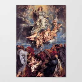 Pieter-Paul Rubens; Assumption of the Devine and Holy Virgin Mary Canvas Print