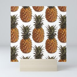 Pineapple Pattern Vector Mini Art Print