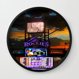 Coors Field Wall Clock