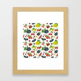 Colorful Berries Pattern Framed Art Print