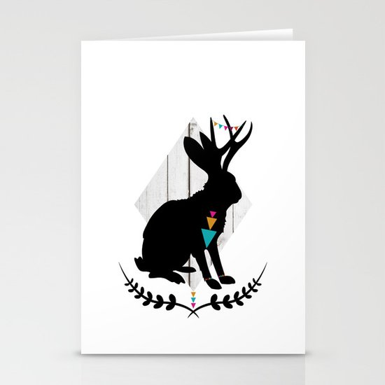 Aztec King of the Jackalope Stationery Cards