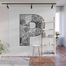 Cutout Letter P Wall Mural