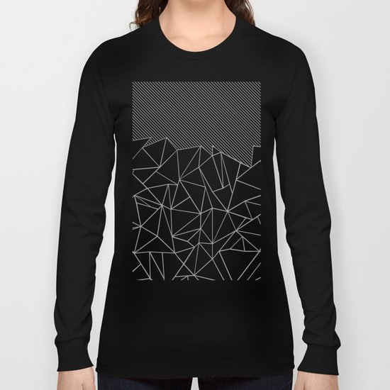 Ab Linear Grey Long Sleeve T-shirt