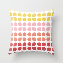Floral Geometry Pattern Throw Pillow