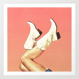 These Boots - Living Coral Art Print
