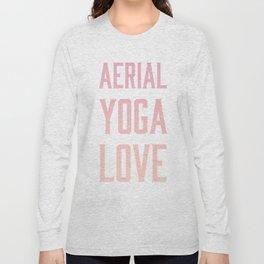 aerial yoga love // pink & orange Long Sleeve T-shirt