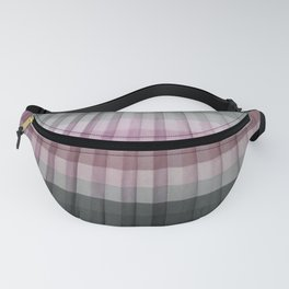 Pink Magenta Gray Pleated Stripes Fanny Pack