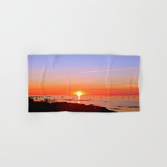 Kayak Silhouette at Sunset Hand & Bath Towel