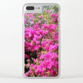 Wisteria And Azalea Clear iPhone Case