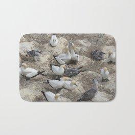 Gannets in a row Bath Mat