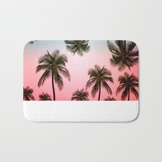 palm tree  Bath Mat