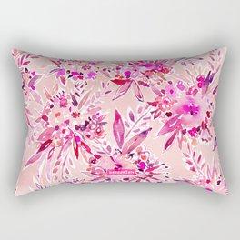 GIMME THAT Pink Wild Floral Rectangular Pillow