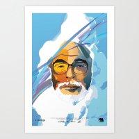 hayao miyazaki Art Prints featuring Miyazaki by zero Bounty