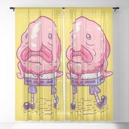 SpongeBlob Sheer Curtain
