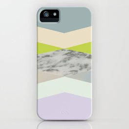 pastel loves marble geometry iPhone Case