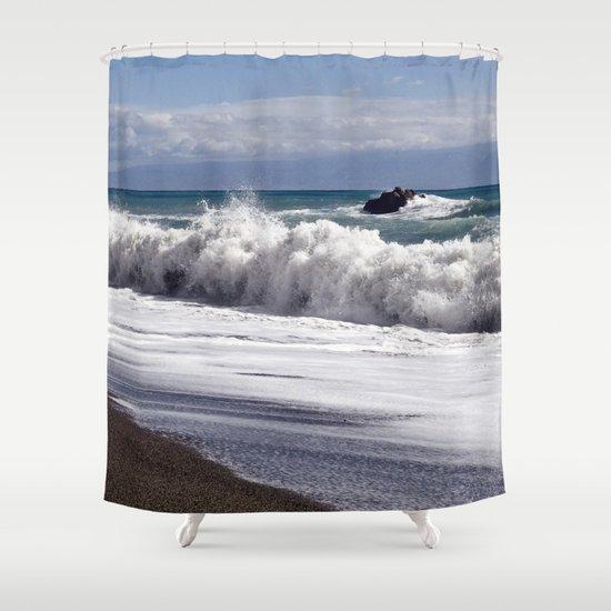 WAVES EASTCOAST SICILY Shower Curtain