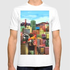 San Francisco City Chicken White Mens Fitted Tee SMALL