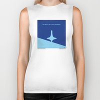 inception Biker Tanks featuring No240 My Inception minimal movie poster by Chungkong