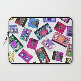 Retro 80's 90's Neon Patterned Cassette Tapes Laptop Sleeve