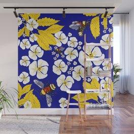 Bumbly Bees with Backbacks Wall Mural