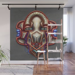 Summer Totem Red Wall Mural