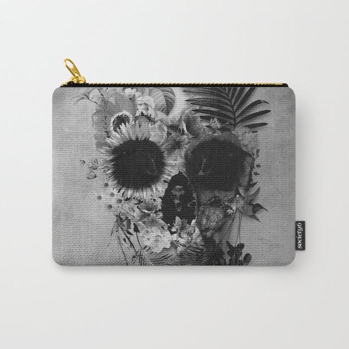 Garden Skull B&W Carry-All Pouch