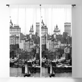 Some high buildings of lower New York 1902 Blackout Curtain