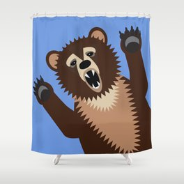 Big Bad Bear Shower Curtain