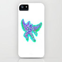 Cybernetic Neon Angel iPhone Case
