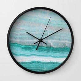 Aqua Striped Quartz Crystal Wall Clock