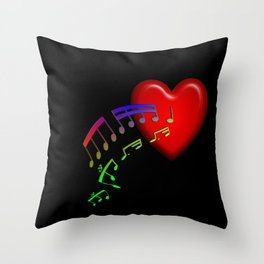 Music From The Heart Throw Pillow