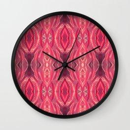 Elegant pink intricate vintage pattern Wall Clock