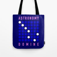 astronomy Tote Bags featuring ASTRONOMY DOMINE by Fab&Sab