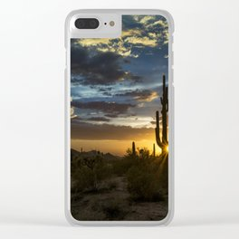Southwest Style Sunset Skies Clear iPhone Case