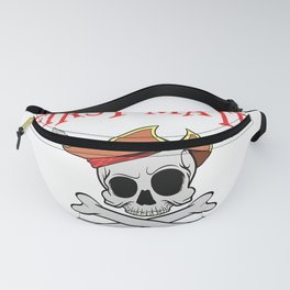 Pirate First Mate Pirate Shirt for Kids Family Caribean T-Shirt Fanny Pack