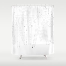 Twins-Since-1958---59th-Birthday-Gifts Shower Curtain