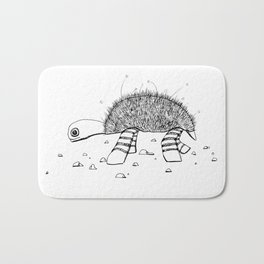 The Lazy Turtle Black and White Sketch Bath Mat