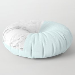 Marble + Pastel Blue Floor Pillow