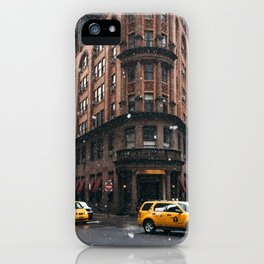Snow showers in Financial District iPhone Case