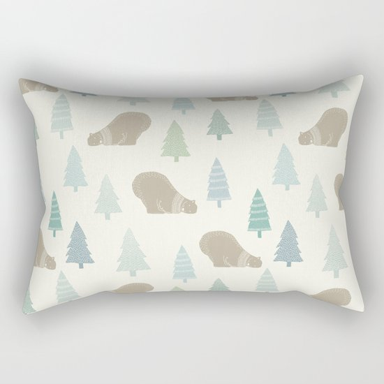 Merry Christmas Polar bear - Animal pattern Rectangular Pillow