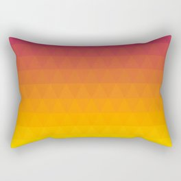 Pink and Yellow Ombre - Flipped Rectangular Pillow