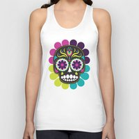day of the dead Tank Tops featuring Day of the Dead by Piper Burke