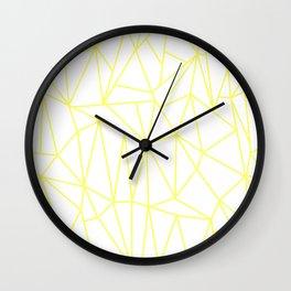 Geometric Cobweb (Light Yellow & White Pattern) Wall Clock