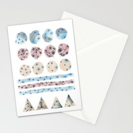 Geometrical Embroidery Stationery Cards
