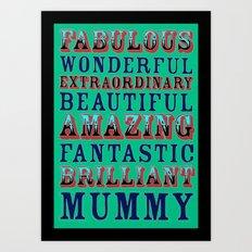 World's best mother Art Print